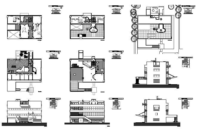 Villa stein in garches le corbusier the possibility of for Villa plan dwg