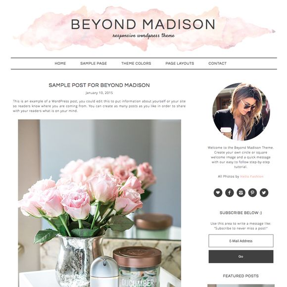 Beyond Madison WordPress Theme by Studio Mommy on @creativemarket. Price $35