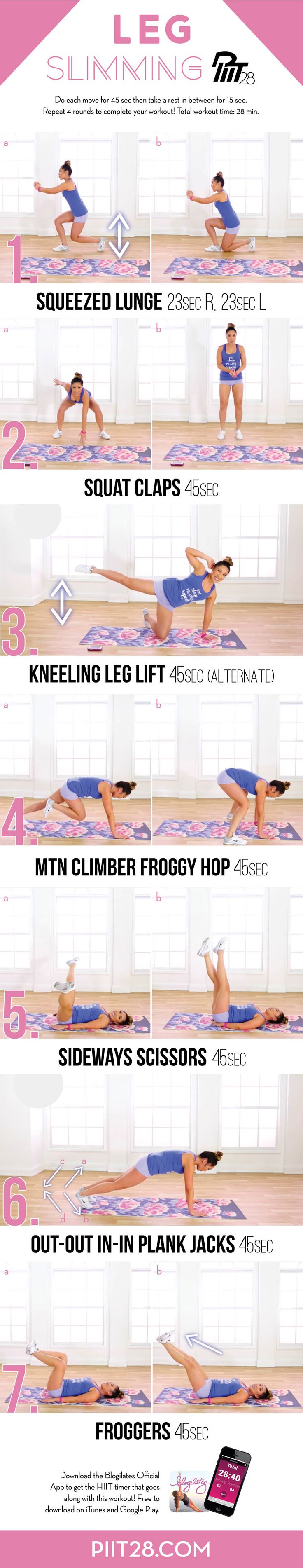 Hey guys! Enjoy this free PIIT28 Leg Slimming sequence! A mixture Pilates for muscle toning and HIIT (high intensity interval training) to burn fat – PIIT28 is the the BEST workout for getting fit QUI