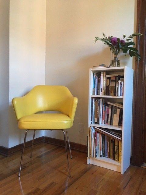 Yellow Leather Design Within Reach Saarinen Chair  | eBay