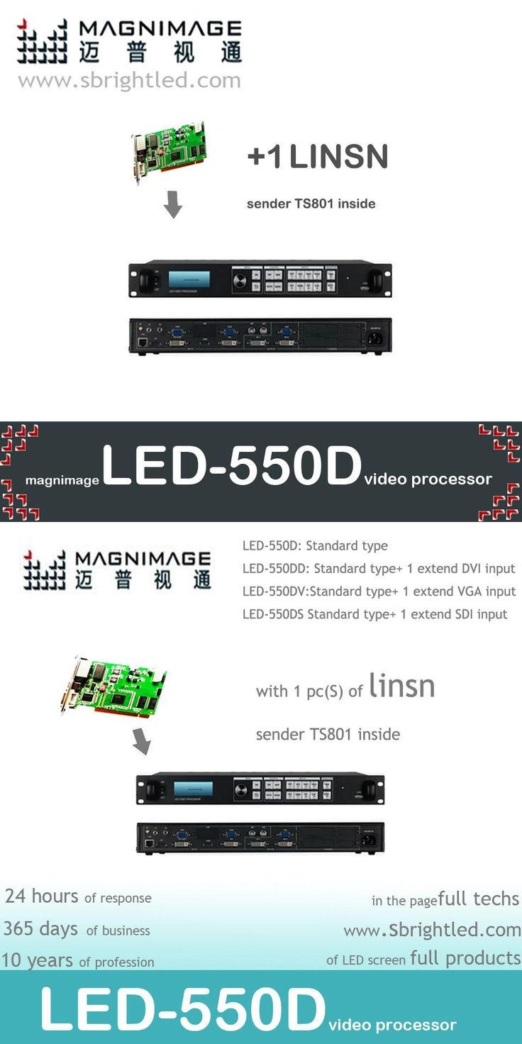 freeship MAGNIMAGE LED-550D with 1pc Linsn TS802 video processor for LED RGB full color led display video wall screen