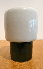 INGER PERSSON RÖRSTRAND 1960'S VASE/VOTIVE. It was in 1959 when the designer Inger Persson arrived at Rörstrand. She was discovered by Fredrik Wehtje at Konstfack (the Swedish applied and fine arts university) and designed everyday use objects as well as artware. Her teapot Pop, in shiny happy colours, was a great success.