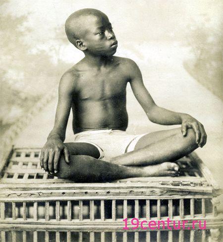 Мальчик из Судана негроидной расы. 19 век.