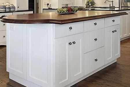Slab Drawer Front On Shaker Kitchen Cabinets Basement
