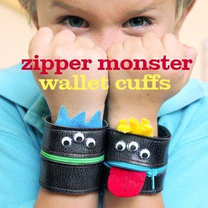 Zipper Monster Wallet Cuff