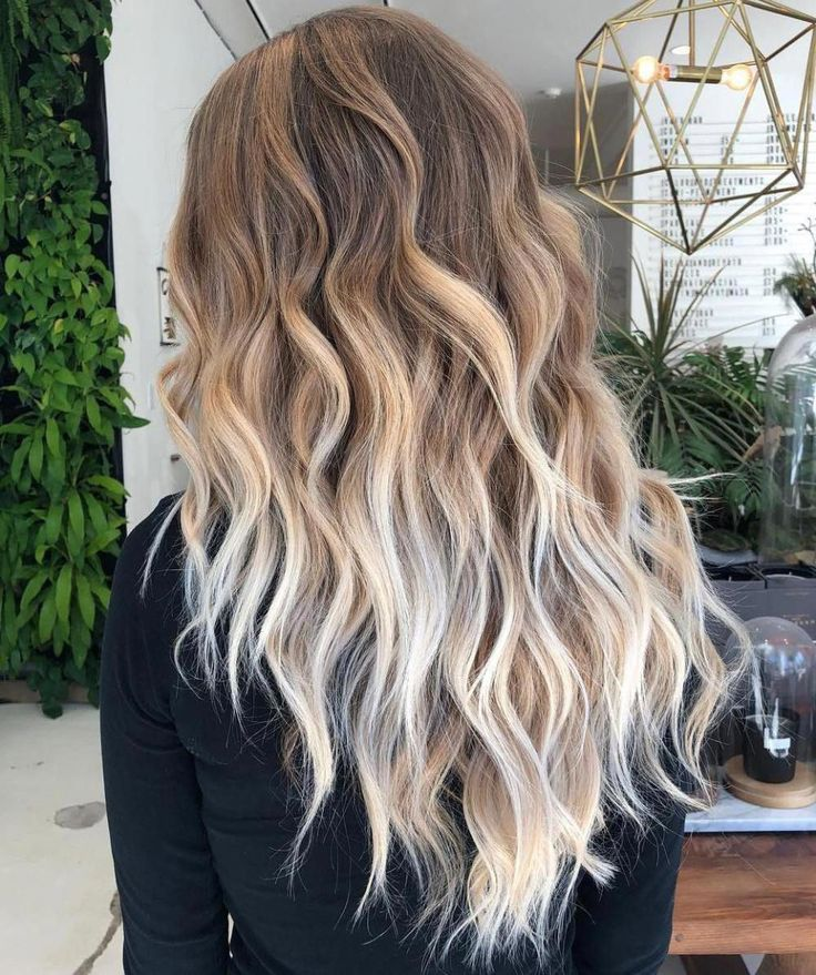Long Layered Brown-to-Blonde #ombre Waves #haircuts