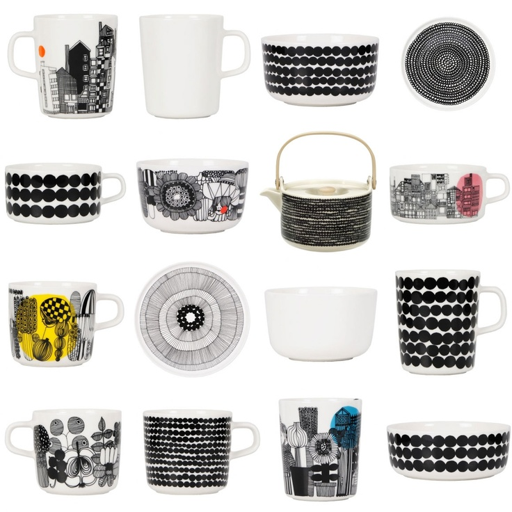 Marrimekko cups and bowls.
