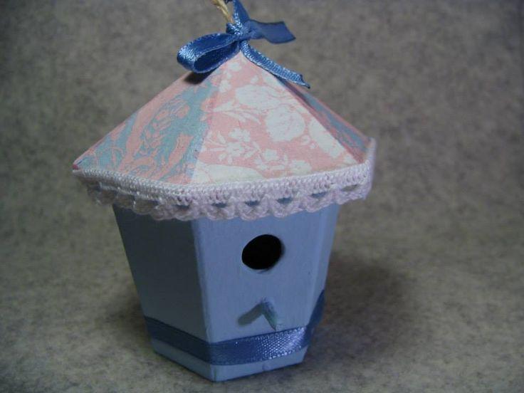 Papier mache - domki. Mini Bird Houses.  Autor: Dominika P.