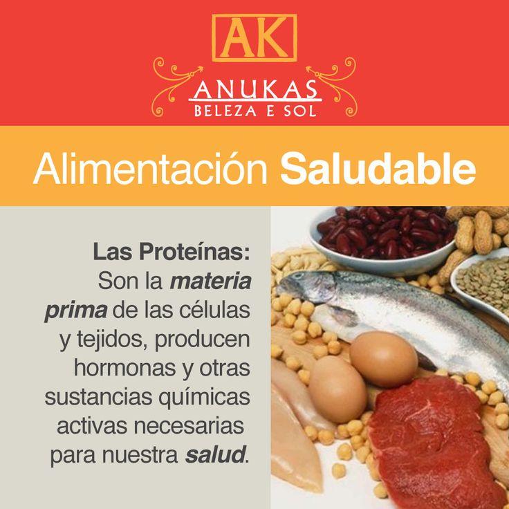 #Alimentación Saludable Las proteínas son la materia prima de las cédulas y tejidos...