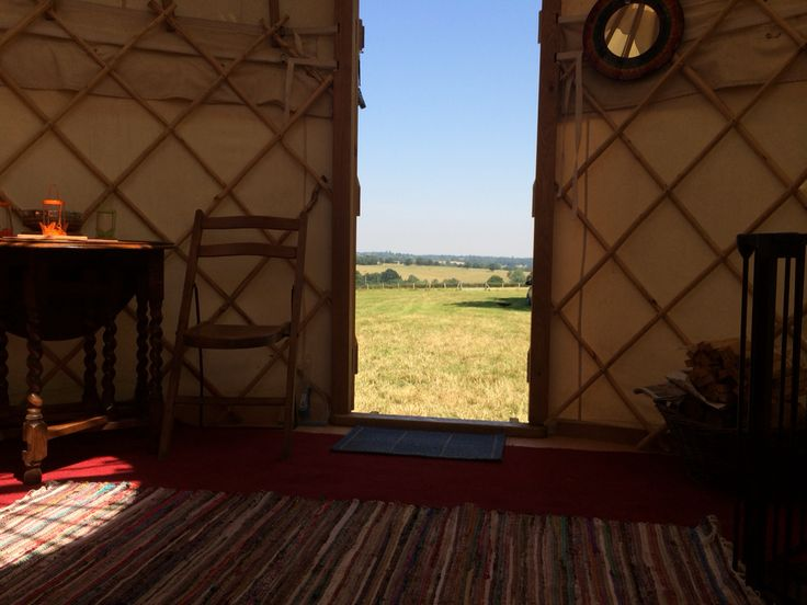 View from our 14ft Yurt.