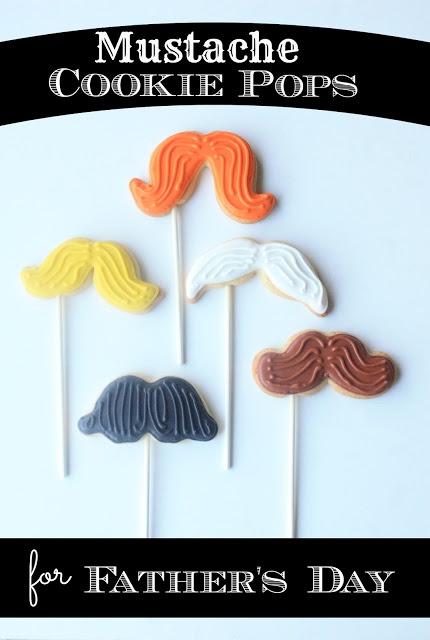 Biscotti baffo per la Festa del Papà Guest post by @Suzanne Sparks (Munchkin Munchies) Mustache Cookie Pops for Father's Day