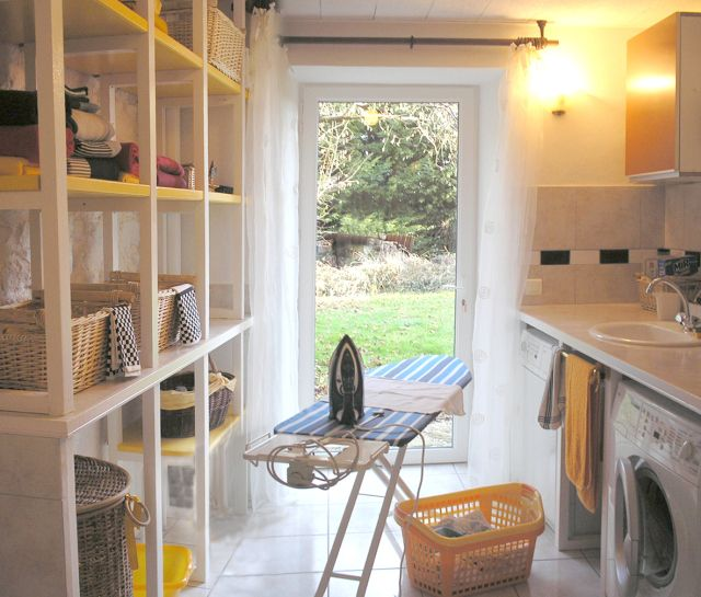 Ideas for a laundry room. Buanderie.