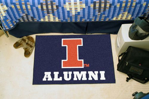 "Illinois Fighting Illini Alumni Starter Area Rug Floor Mat 20"""" X 30"""""