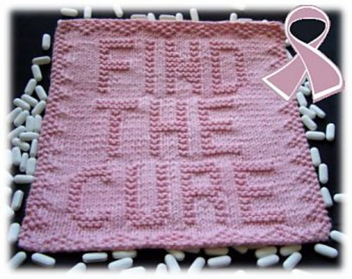 Breast Cancer Dishcloth Knitting Pattern : 17 Best images about CROCHET- BREAST CANCER MONTH on Pinterest Potholders, ...