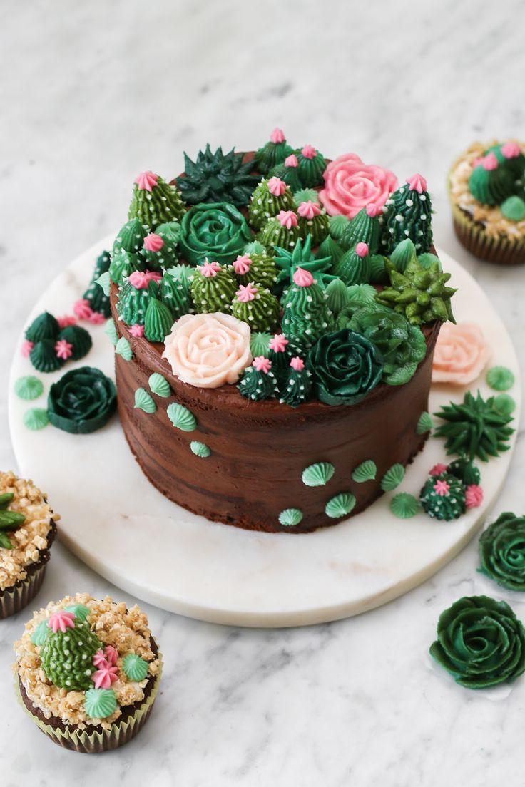 Crème au beurre Succulent Cake avec la nourriture du diable, gâteau au chocolat et …   – Cake