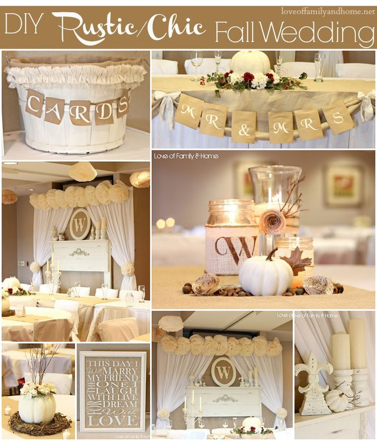 Diy Rustic Chic Fall Wedding Reveal Love Family Amp Home Diy Rustic Wedding  Decoration Ideas Memes