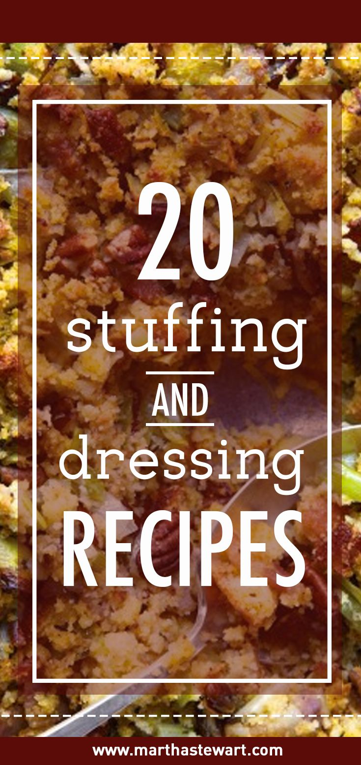 Stuffing (or dressing) is one of the most eagerly anticipated dishes at the Thanksgiving table. Here's a collection of our favorite recipes -- all guaranteed to have guests requesting seconds.