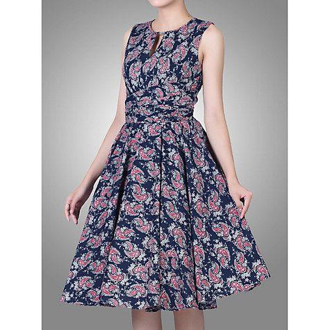 Buy Jolie Moi Floral Print Wrap Belt Dress, Navy Floral Online at johnlewis.com