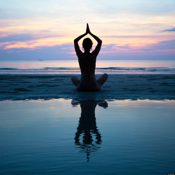 Sunset beach meditation...