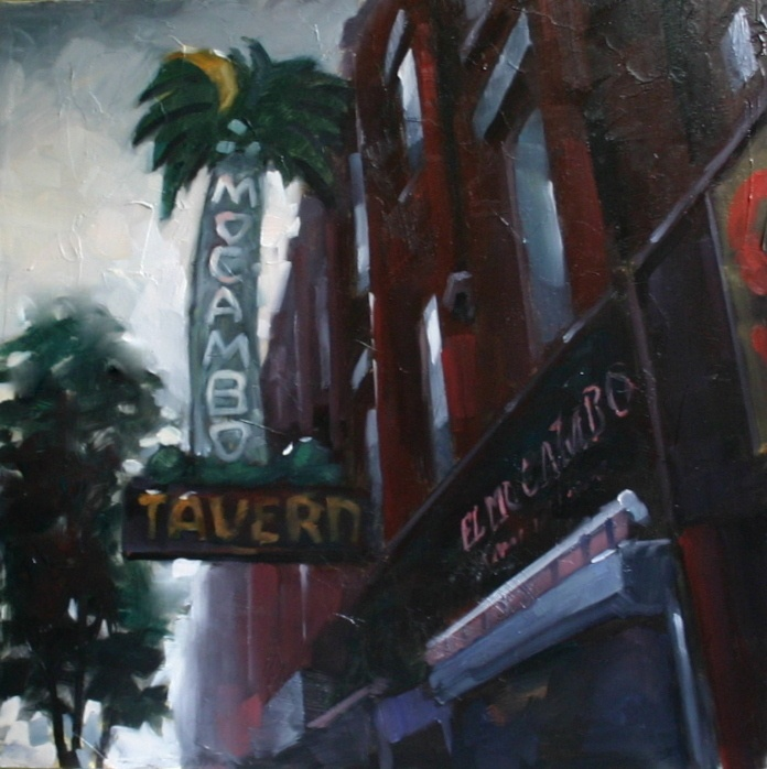12x12 oil on Board  The El Mocambo in Toronto