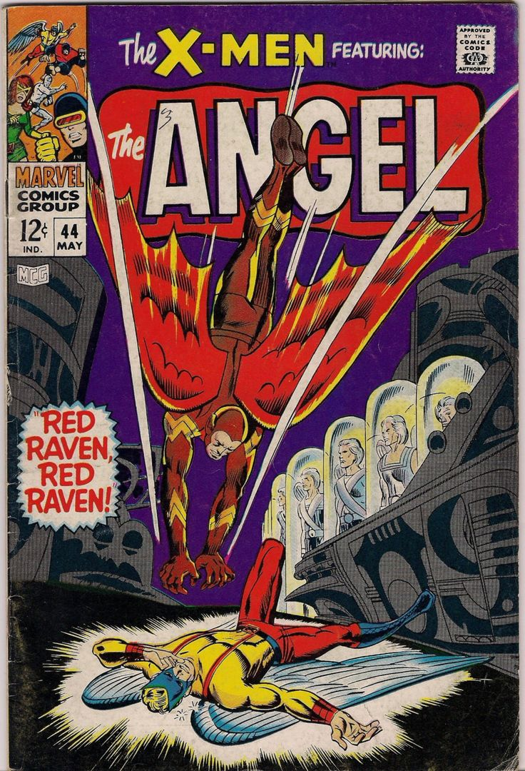 Xmen #44 1st appear Golden Age RED RAVEN Marvel Mutants Silver Age Comics Jack King Kirby & Stan Lee 1968 VG
