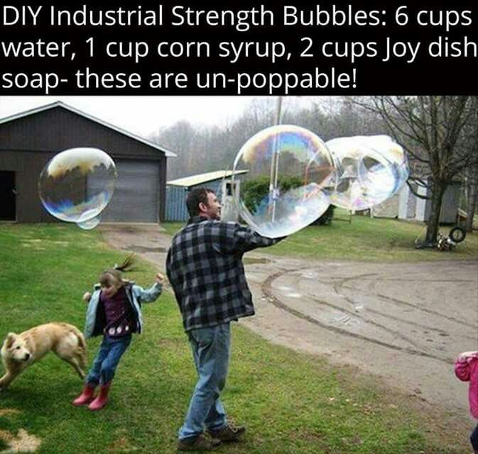 Industrial Strength Bubble Recipe