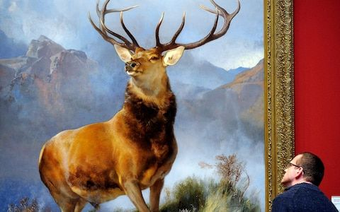 Owner denies luxury hotel claim that stag in Monarch of the Glen painting is English