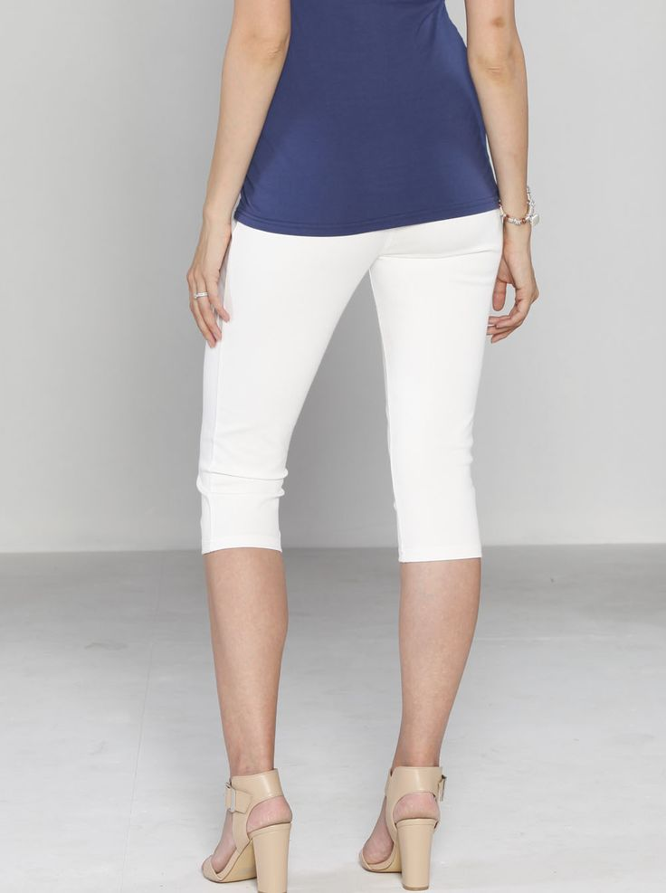 Fitted Cotton Twill Cropped 3/4 Shorts in White, $49.95, down to just $19.95. Wear with flats during the day or dress them up with heels for a more formal affair.