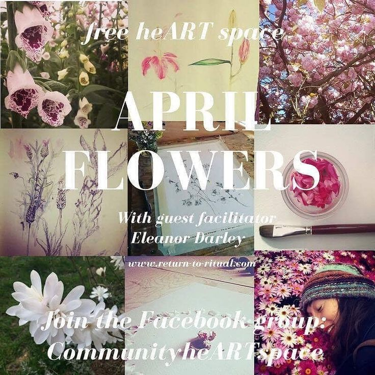 #joinus in #heARTspace this month for our #free #art #project #Aprilflowers with guest facilitator Eleanor Darley #beauty #creativity #joy #deeplistening #inspiration #dreaming #draw #intuition #instaart #instaartist