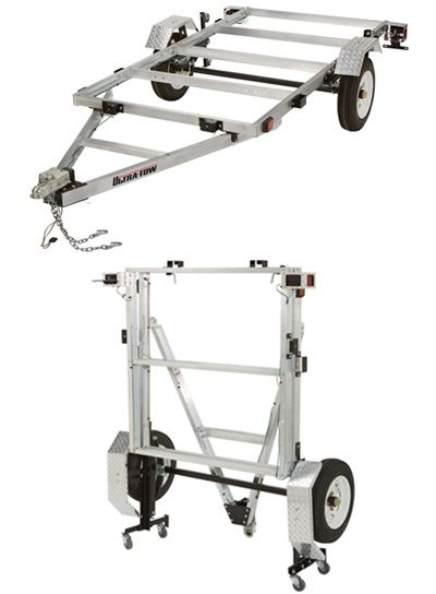 FREE SHIPPING — Ultra-Tow 4ft. x 8ft. Folding Aluminum Utility Trailer Kit — 1170-Lb. Load Capacity