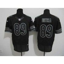 Nike Bears #89 Mike Ditka Black Shadow Men's Stitched NFL Elite Jersey