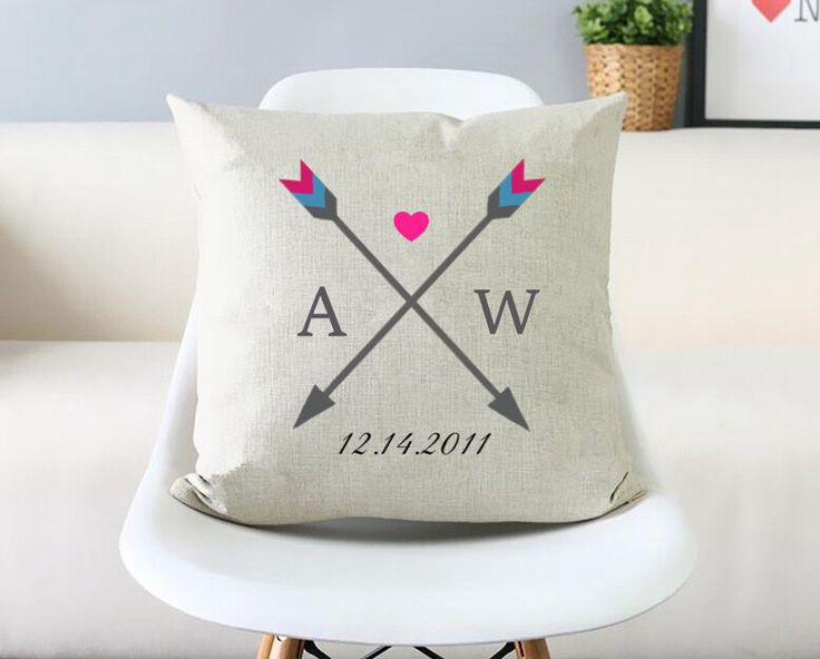 couple throw pillow couvre famille oreiller d coratif cas 22 x 22 fl che housse de coussin. Black Bedroom Furniture Sets. Home Design Ideas