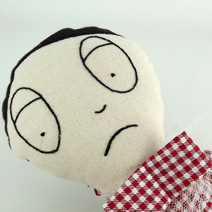 Crazy doll.handmade doll. soft toy .EMbroidery.
