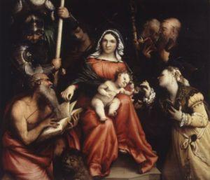 Lorenzo Lotto - Sposalizio mistico di santa Caterina