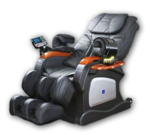 One of the most advanced massage chairs on the market, the Beautyhealth 7-DEE comes packed with advanced features. The chair gives you full control over your massage, so you can target problem areas and customize your massage. The device even comes with a way to synch your MP3 player, so you can listen to your favorite music while having your massage. 6 different massage programs, Reclines up to a 170-degree angle. Wow!  Arm and hand massage sections
