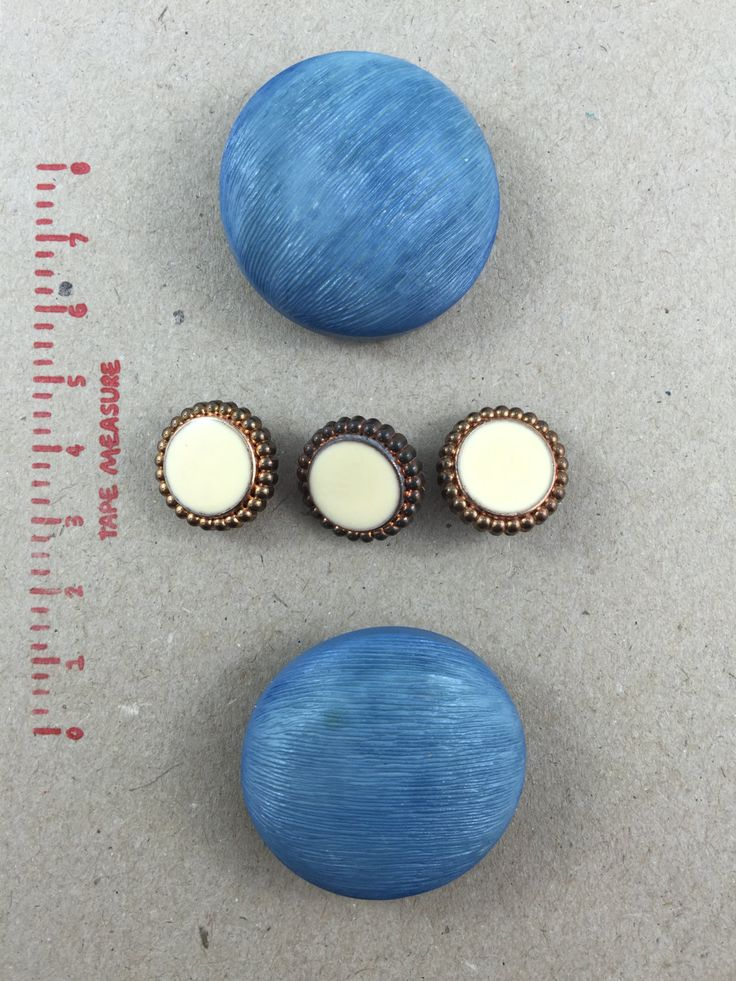 2 x Blue Extra large chunky domed Bakerlite (?) Buttons (38mm diameter) by ButtonsBobsandBits on Etsy