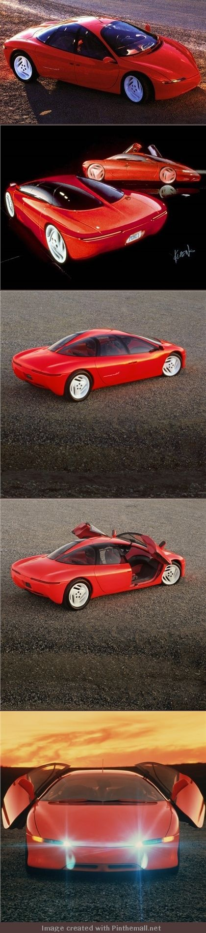 The pontiac protosport is a concept car that offers comfort for four people while providing performance and handling normally achieved only in sports cars