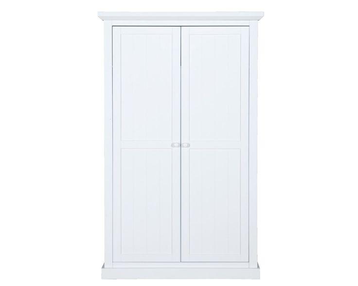 Linnenkast Julia: Een landelijk stoere kast voor in de slaapkamer met 2 deuren. #kledingkast