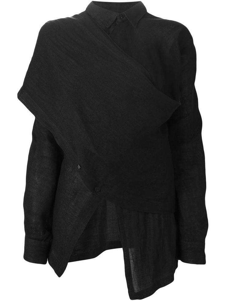 Comme Des Garçons Vintage asymmetric wrap front shirt