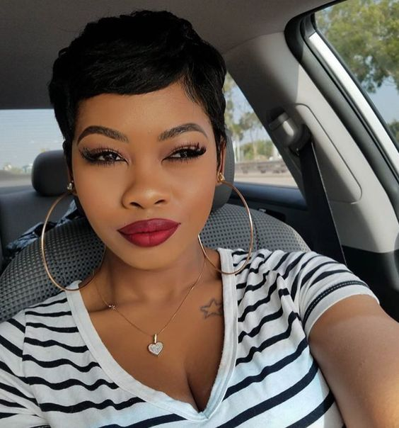 short hairstyles for black women 2018 #blackwomen #shorthairstyles #blackwomenhair