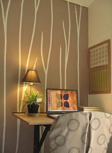 wall painting on pinterest creative walls stencil decor and wall. Black Bedroom Furniture Sets. Home Design Ideas