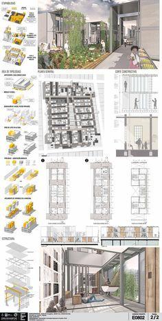 Conoce a los ganadores del concurso latinoamericano 'Pensar la vivienda, vivir la ciudad',Segundo lugar / código E0802. Image Cortesía de Organizadores
