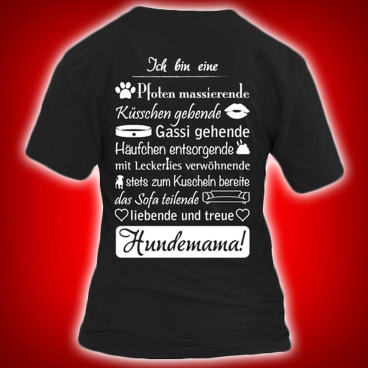 Hundemama!  COOLES SHIRT, EXKLUSIVES MOTIV, LUSTIGER SPRUCH! Unser lustiges Hunde Sprüche Shirt / Hoodie ist das ideale Geschenk für Hundehalter, Hundebesitzer, Frauen & Frauchen!  Hund / Hundeshirt / Funshirt / Hundesprüche-Shirt / Spruch-Shirt / Motiv-Shirt / T-Shirt Motive / Langarmshirt / Ladyshirt / Top / Sweatshirt / Hoodie / Kapuzenshirt / Kapuzenpullover / Damen Hoodie / Pullover Bluse