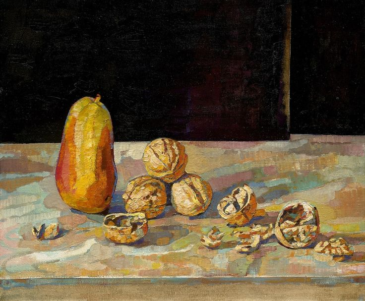 Anthony Springford, Pear and Walnuts (giclee print on paper, 2014)
