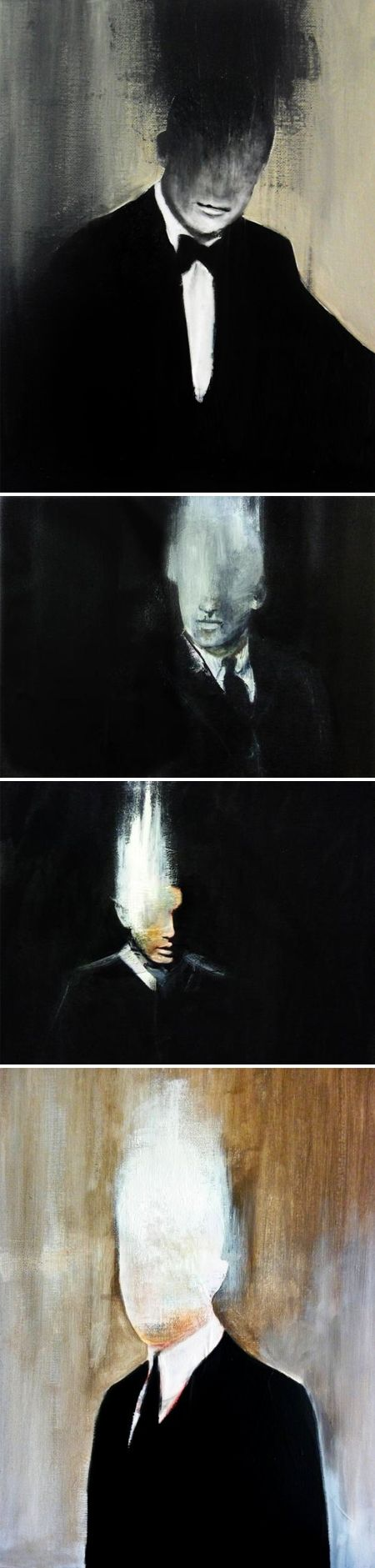 Faceless men by carole bremaud via the jealous curator
