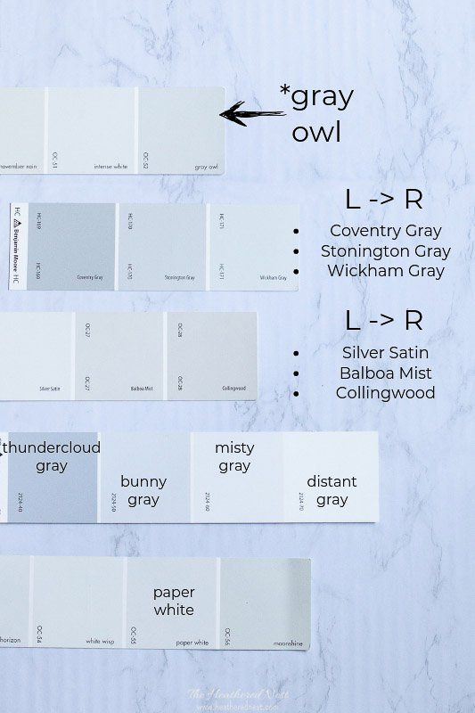 Best Benjamin Moore Gray Owl Color Study 31 Painted Spaces 400 x 300