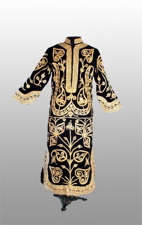 Cord Decoration A Kaftan Dress Decorated With Cord Material Velvet