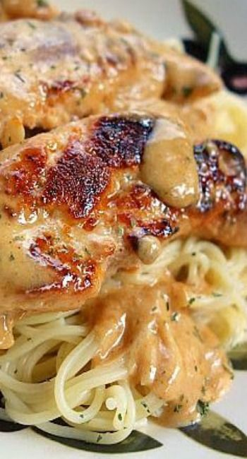 Make it slimming world friendly Chicken Lazone ~ Serve Chicken and Sauce over Pasta or Mashed Potatoes, if Desired.