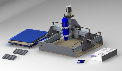 SHAPEOKO - These are simple, low cost, open source CNC milling machine kits that can be built in about 3-5 hours - http://www.shapeoko.com/