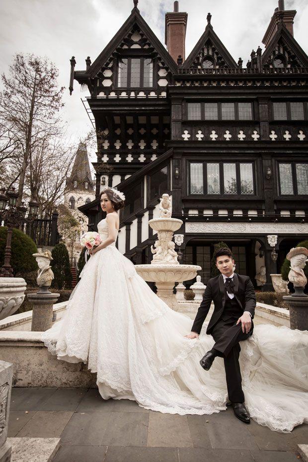 Juli Bun Bun's (of Bun Bun Makeup Tips) pre-wedding photo shoot in Taiwan with La Fatte Bridal Studio (法蝶婚紗會館). Two days, seven amazing gowns!